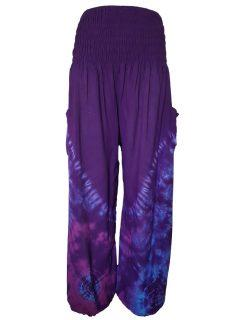 Tie Dye Ali baba trousers – Purple