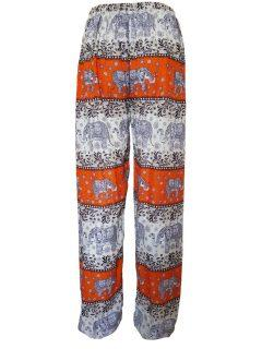 Elephant print Ali baba trousers – Orange