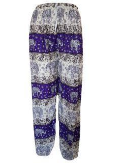 Elephant print Ali baba trousers – Purple
