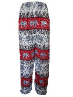 Elephant print Ali baba trousers – Red