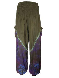 Tie Dye Ali baba trousers – Green