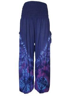 Tie Dye Ali baba trousers – Blue