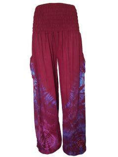 Tie Dye Ali baba trousers – Red