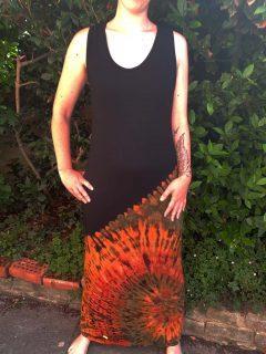 Tie dye maxi dress- Half tie dye