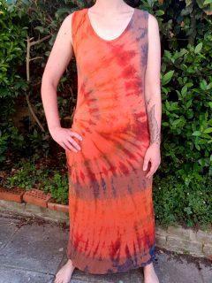 Tie dye maxi dress- Orange