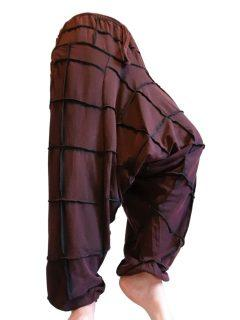 Square stonewash harem trousers: Red