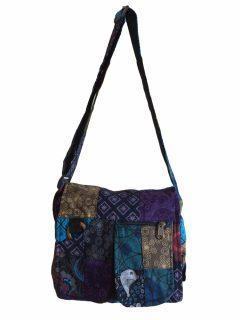 Patchwork pocket messenger bag-Medium