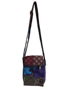 Patchwork pocket messenger bag -Small