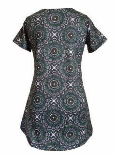 Mandala Tee Shirt- Green