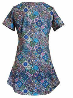 Mandala Tee Shirt- Blue