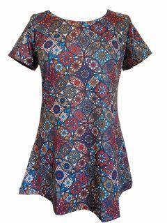Mandala Tee Shirt- Red