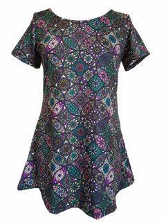 Mandala Tee Shirt- Purple