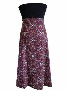 Mandala Dress/ Skirt – Maroon