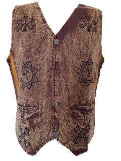 Stonewash Waistcoat – Brown
