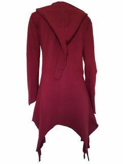 Lightweight printed pixie hood jacket- Red