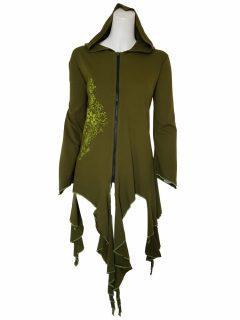 Lightweight printed pixie hood jacket- Green