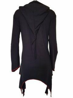 Lightweight printed pixie hood jacket- Black
