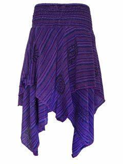 Mid length layered skirt: Purple