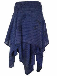 Mid length layered skirt: Blue
