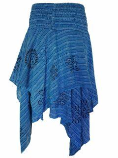 Mid length layered skirt: Turquoise