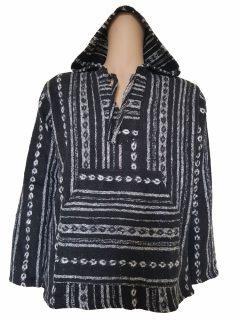 Nepalese Baja Hoody – Black and White