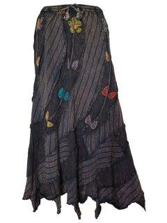 Pixie hem panel skirt- Black