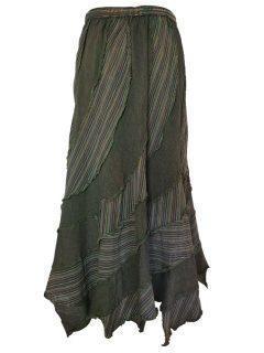 Pixie hem panel skirt- Forest Green