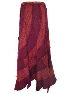 Pixie hem panel skirt- Red