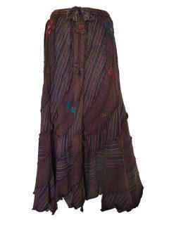 Pixie hem panel skirt- Brown