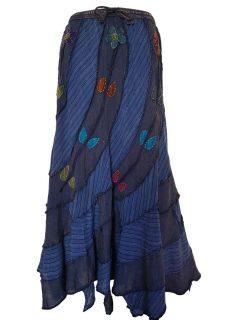 Pixie hem panel skirt- Blue