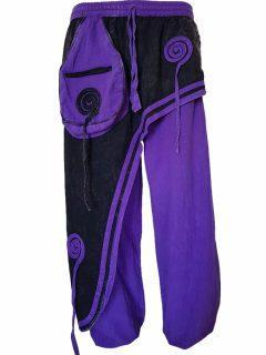 Panel trousers- Purple