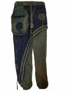 Panel trousers- Green