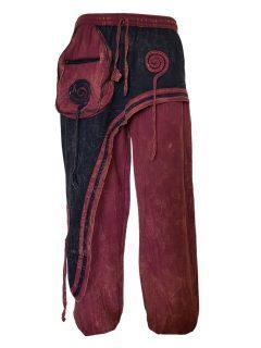 Panel trousers- Red