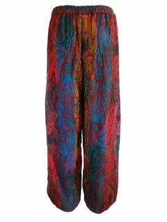 Cashmillon trousers- Multi leaf print