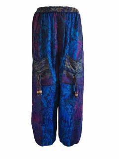 Cashmillon trousers- Blue leaf print