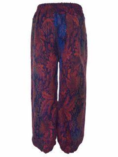 Cashmillon trousers- Purple and Blue leaf print