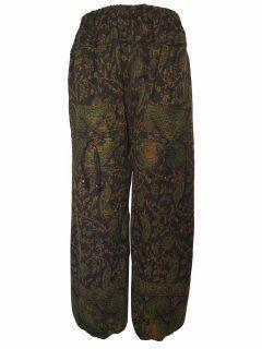 Cashmillon trousers- Green and Brown Paisley