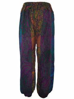 Cashmillon trousers- Purple leaf print