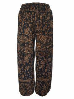 Cashmillon trousers- Black and Gold Paisley