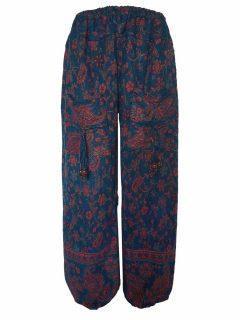 Cashmillon trousers- Teal paisley