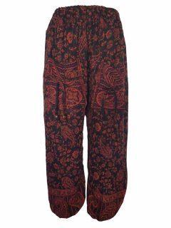 Cashmillon trousers- Black and orange paisley