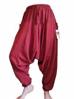 Plain harem trousers: red