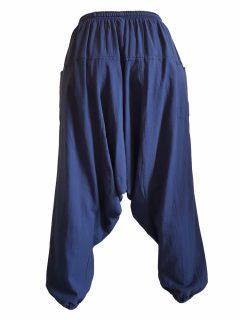 Plain harem trousers: Navy