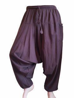 Plain harem trousers: Brown