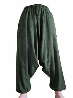 Plain harem trousers: Green