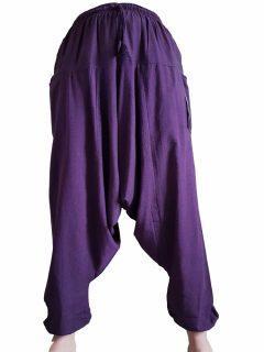 Plain harem trousers: Purple
