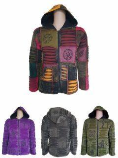 Patchwork Ribbed Jackets