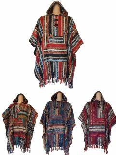 Square cotton poncho's