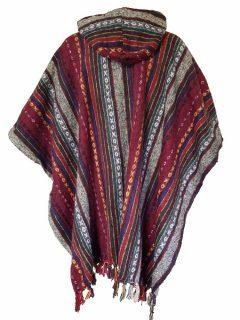 Square Poncho – Red