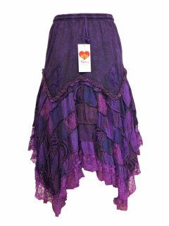 Cotton patchwork skirt – Purple